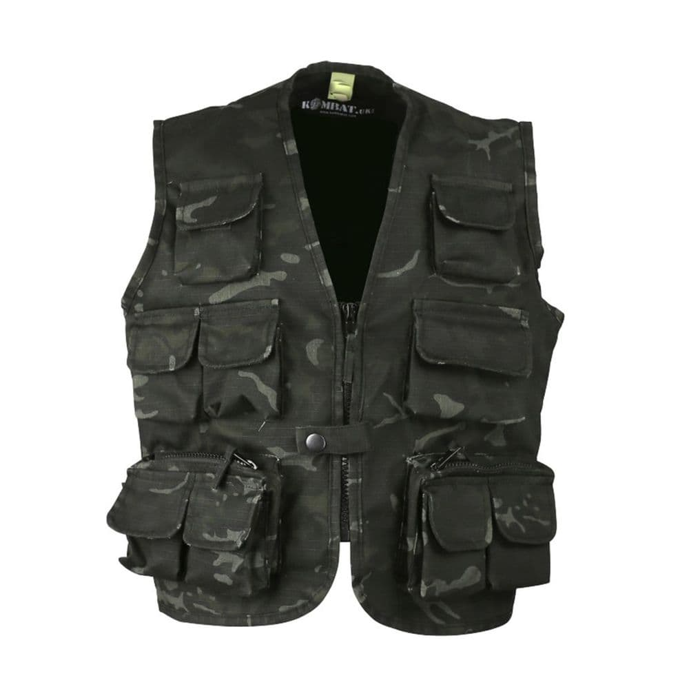 Kombat Kids Tactical Vest BTP Night Camo Army Gear Clothing Camo Fancy Dress