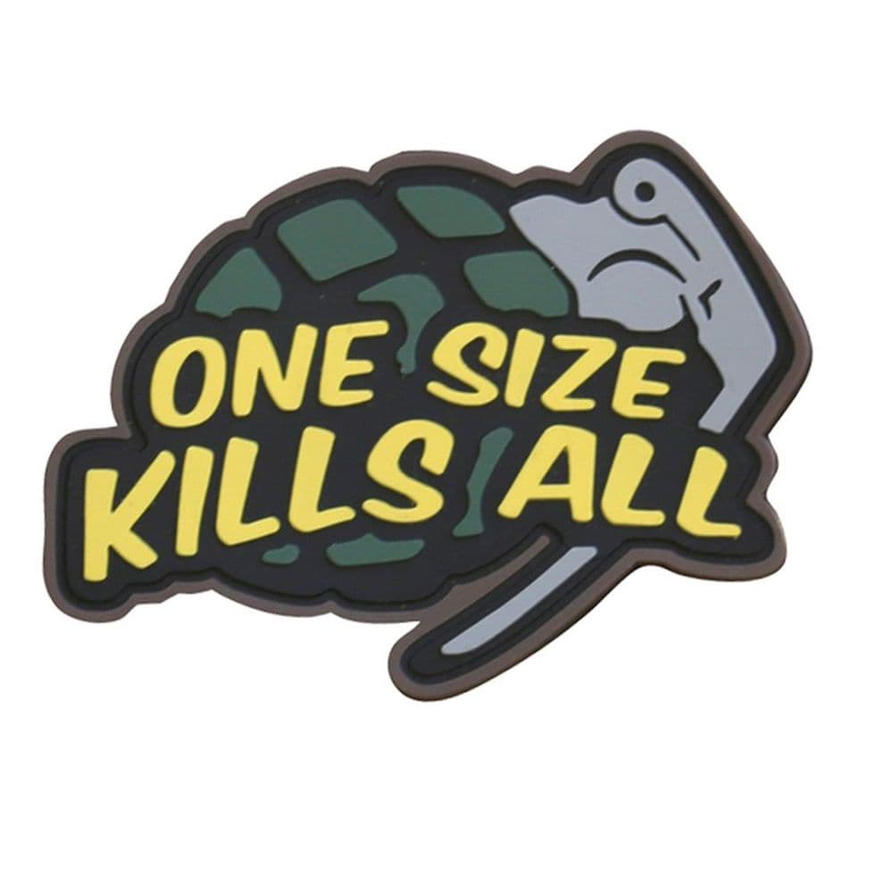 Kombat One Size Kills All Grenade Patch Airsoft Moral Hook & Loop
