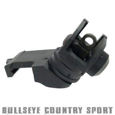 Metal Airsoft Rear Canted Offset Iron Sight Fits 20mm Rails