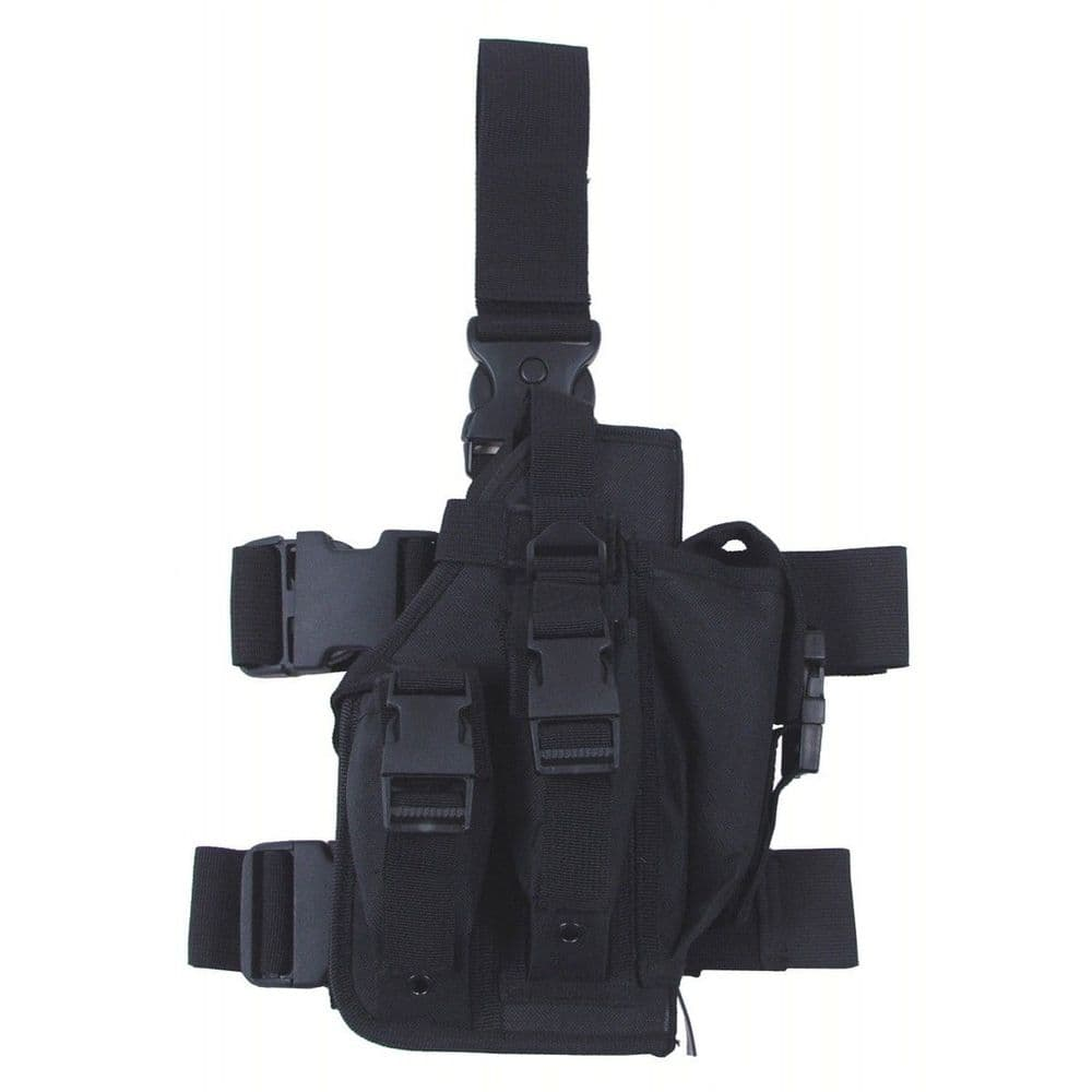 Mfh Large Tactical Drop Leg Holster Black