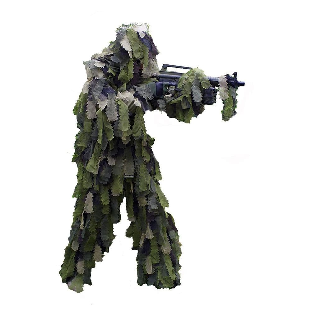 Mil-Tec 3D Leaf Woodland Camo Ghillie Suit Sniper Airsoft Army