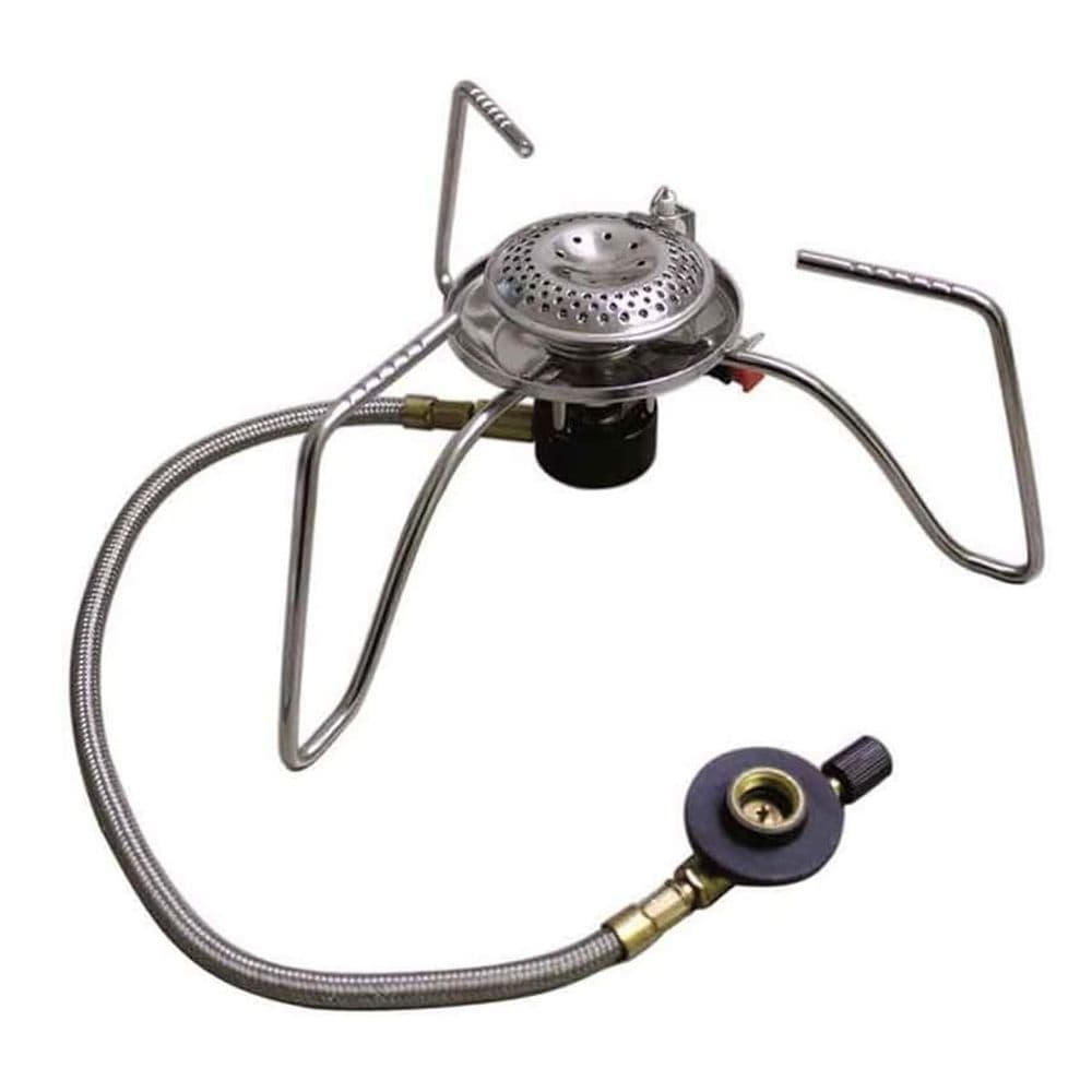 Mil-Tec Camping Gas Cooker With Hose Hiking Fishing #14911100
