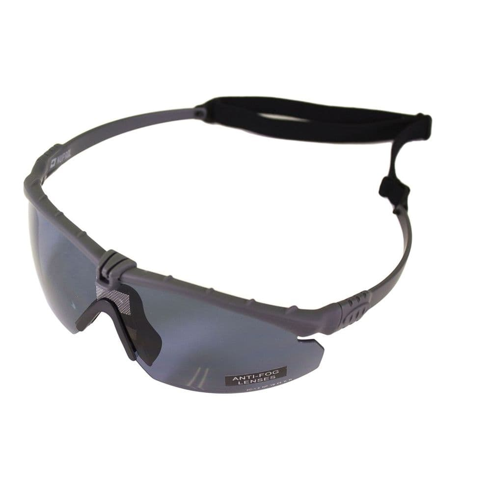 Nuprol Airsoft Battle Eye Pro Safety Glasses Grey Frame / Smoked Lens