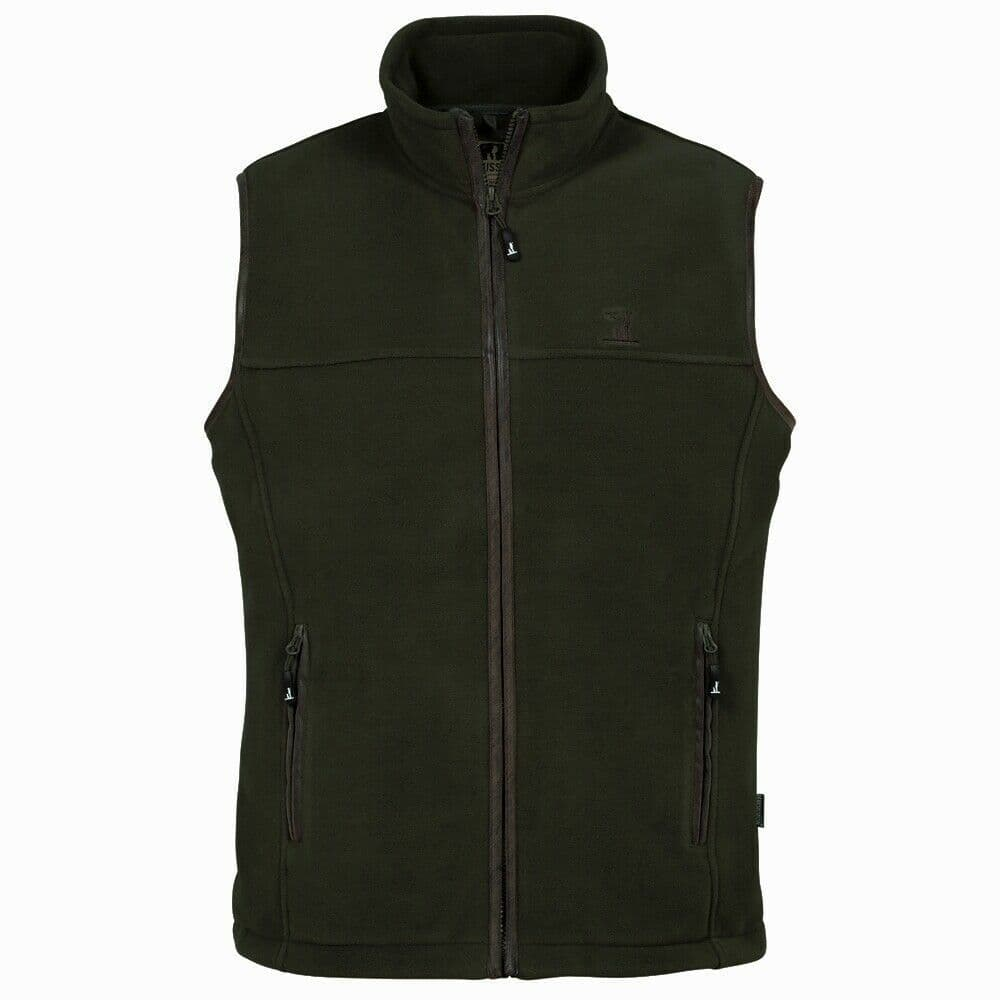 Percussion Country Wear Scotland Gilet Polar Warm Fleece Vest Kaki