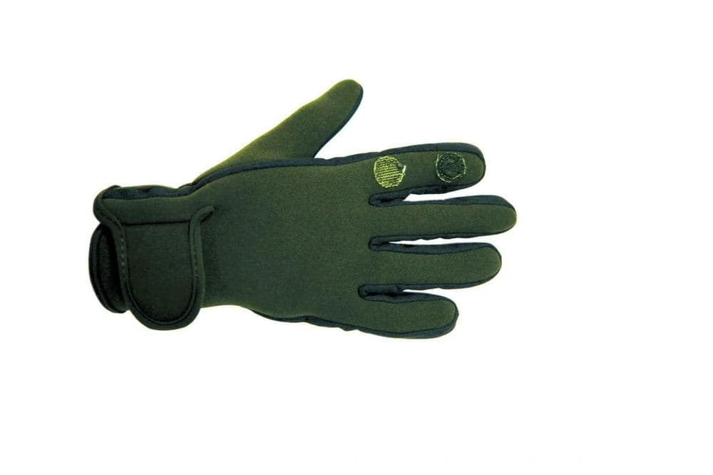 Percussion Neoprene Hunting Shooting Gloves Green