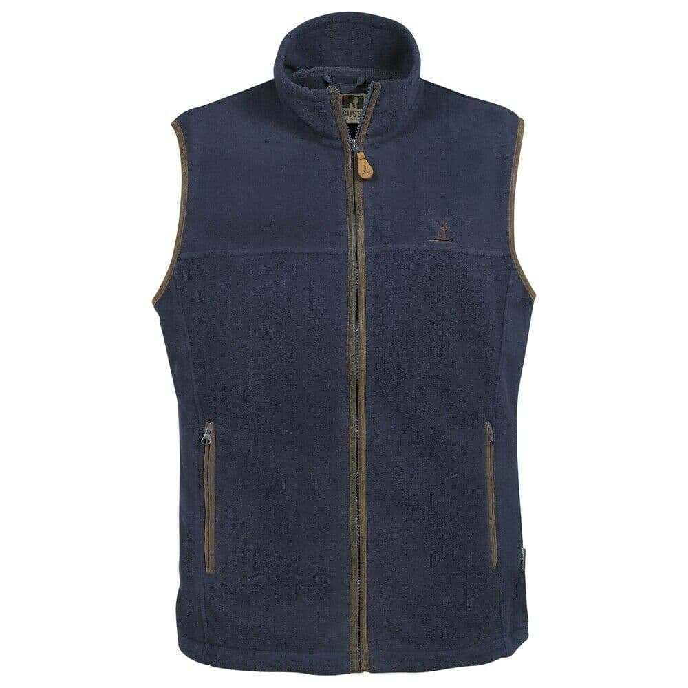 Percussion Scotland Gilet Warm Polar Fleece Vest Blue