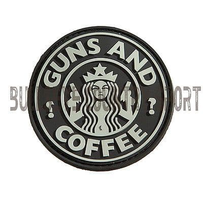 PVC GUNS & COFFEE PATCH SWAT MORAL PATCH BLACK