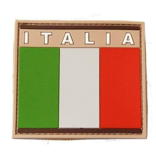 Pvc Rubber Moral Patch Italian Flag