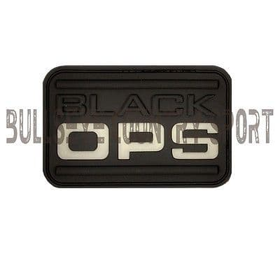 RUBBER BLACK OPS PATCH MORAL PATCH GLOW IN THE DARK AIRSOFT SWAT