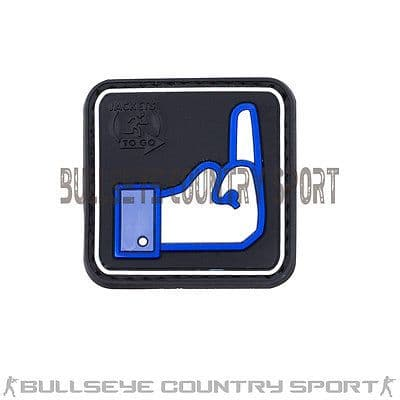 RUBBER DISLIKE FACE BOOK PATCH BLUE BLACK MORAL PATCH AIRSOFT