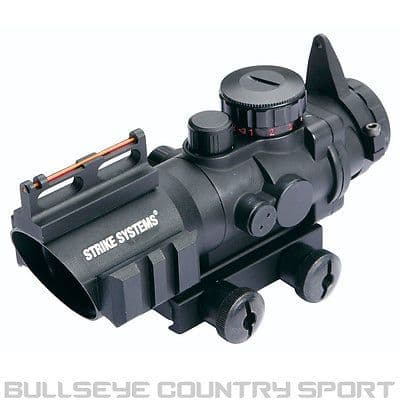 STRIKE SYSTEMS 4X32 RED DOT SCOPE SIGHT WITH FIBRE OPTICS