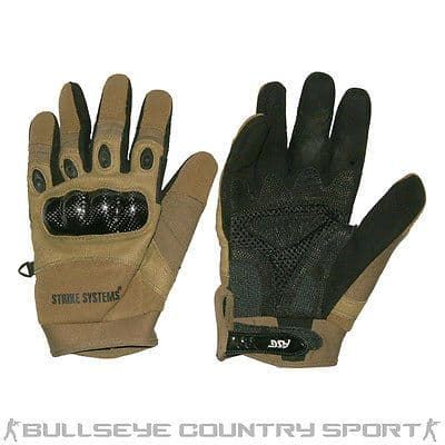 Strike Systems Tactical Combat Gloves Coyote Reinforced