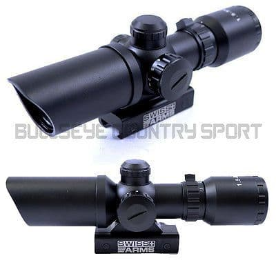 SWISS ARMS 1.5 - 5 x3 2  COMPACT ILLUMINATED SCOPE MIL-DOT STYLE