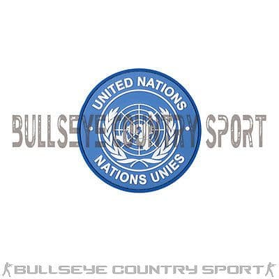UNITED NATIONS PATCH ROUND BLUE MORAL PATCH PVC RUBBER