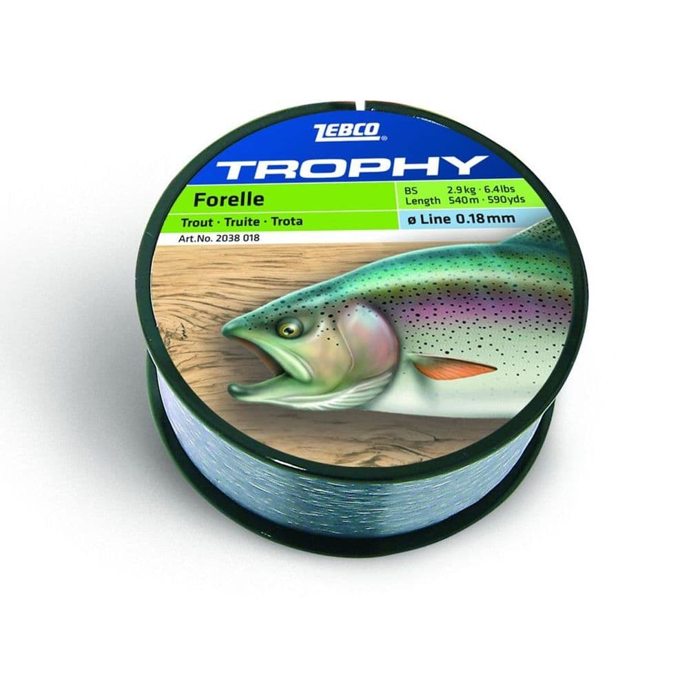 Zebco Fishing Trophy Trout Mono Fishing Line 2.9kg – 7.5kg Strain #20380