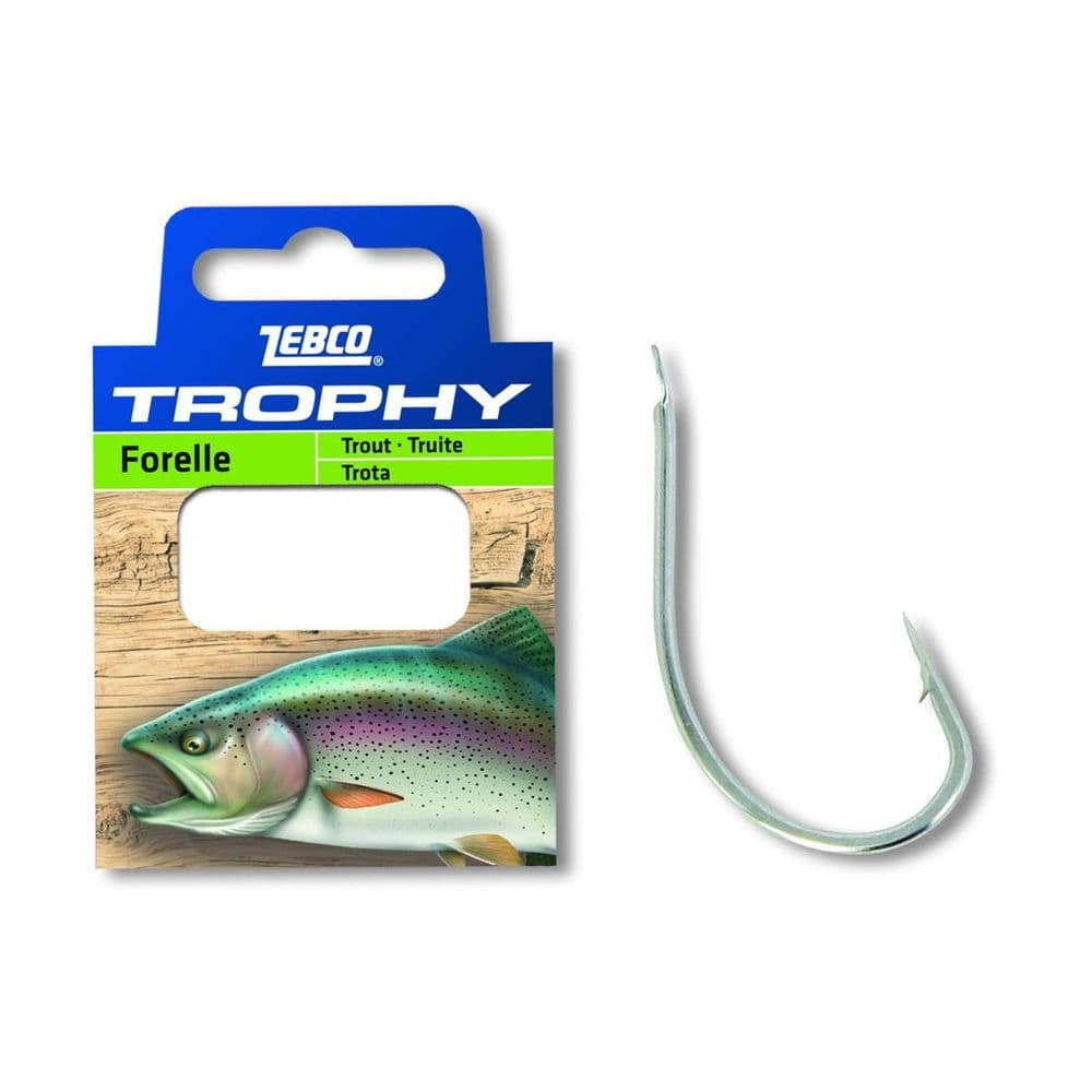 Zebco Trophy Leader Trout Hook #14 0.15mm 0.7m 10 Pieces