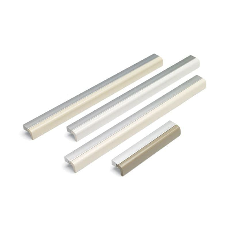FUSION ACRYLIC Pull Cupboard Handle - 2 sizes - 4 finishes (ECF FF84820/FF84828)
