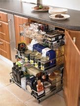 INDIVIDUAL PULL-OUT ORGANISER BASKET (Innostor Range) in 8 cabinet widths (ECF WWFC4***)
