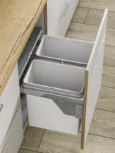 PULL-OUT WASTE BIN (Side Mounted) 56 litre capacity for 600mm wide cabinet (ECF IP2BIN62)