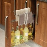 TOWEL RAIL BASE PULL-OUT UNIT (Innostor Range) for 150mm wide cabinet (ECF WWTR150)