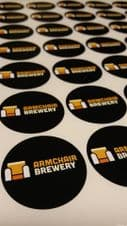 175 Round Paper Stickers - Your Custom Image Printed
