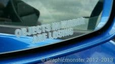2 X Objects In Mirror Are Losing NOVELTY DECAL STICKER VW CAR CAMPER FUN JDM