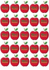 25 No.1 Teacher Apple Stickers - Vinyl Stickers