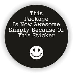 Awesome Stickers!! 37mm Paper Rounds - 35 Stickers