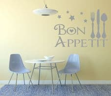 Bon Appetit Wall Art Decal - Kitchen - Dining Room