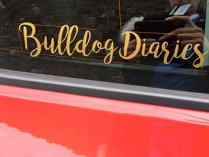 Bulldog Diaries Decal