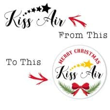 Christmas Sticker Design Made With Your Provided Image