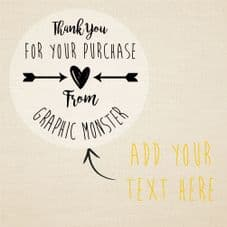 Clear Personalised Thank You Stickers