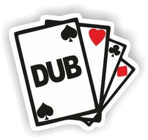 DUB Cards - Vinyl Sticker - 100mm x 90mm