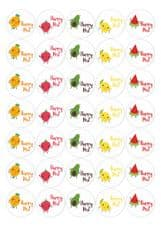 Happy Fruits Happy Post - 37mm Matt Paper Stickers