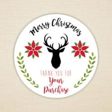 Merry Christmas Stickers - Stag Design - 115 stickers.