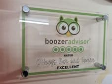 NOVELTY Clear Acrylic Wall Mounted Display with CUSTOM Name