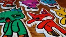 Perforated Vinyl Stickers - Cut To Shape Stickers