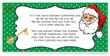 Santa Key Adhesive Tag Labels