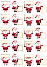 Santa Stickers (Add Your Own Name) 20 Stickers To A Sheet