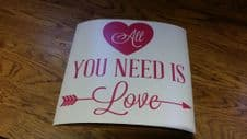 Valentines Box Frame Decal - All You Need Is Love