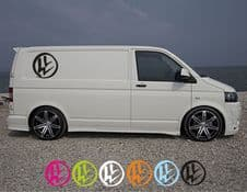 VW Rustic Logo Transporter Side Decals - Set Of Two.