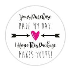 Your Purchase Made My Day -  25mm Mini Sticker