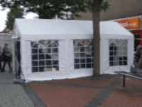 4 x 6 metre party tent inc softex, chairs and tables with lights