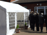 4 x 8 Party Tent inc Softex floor, Lights and Furniture to suit