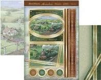 HUNKYDORY A4 Card Set Steam Train Ride 300/350gsm  3 Card Pack