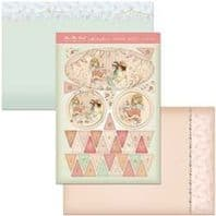 HUNKYDORY A4 Card Set Tea and Bunting 300/350gsm 3 Card Pack