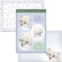 HUNKYDORY A4 Card Set Teddy At Play 300/350gsm  3 Card Pack