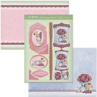 HUNKYDORY A4 Card Set Time For Tea 300/350gsm  3 Card Pack