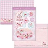 HUNKYDORY A4 Card Set You're My Cupcake 300/350gsm  3 Card pack