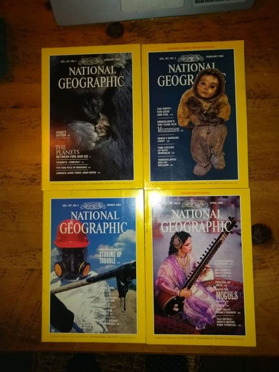 12 issues of National Geographic Magazines  [c 1985]